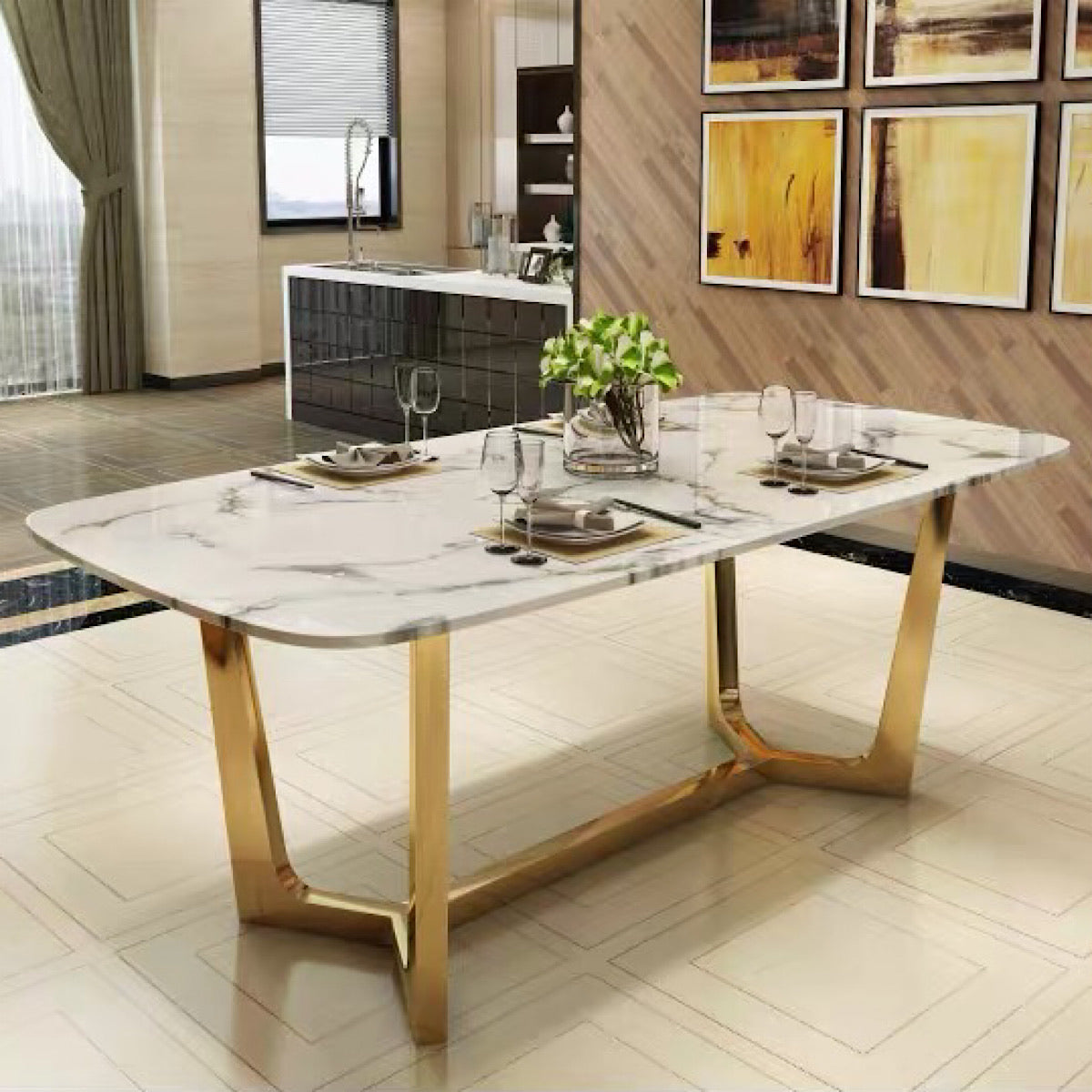 Jouse Marble Dining Table - mhomefurniture