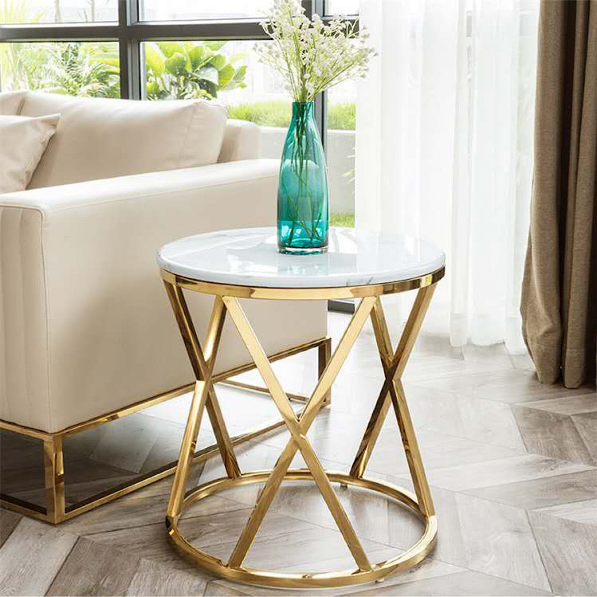 Sodex Marble Side Table - mhomefurniture