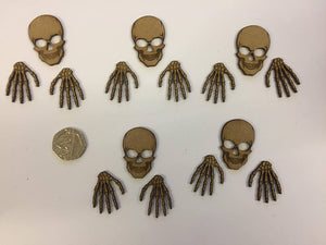 Skull and Boney Hands - 5 sets