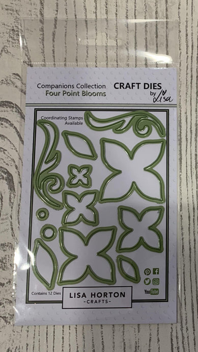 LISA HORTON CRAFTS - FOUR POINT BLOOMS DIE