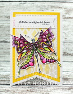 Majestic Butterflies DL Stamp set