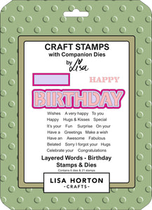 Layered Words - Birthday Stamps & Dies Set