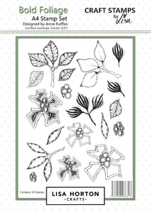 Bold Foliage A4 Stamp Set