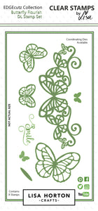 EdgeCutz Stamp - Butterfly Flourish