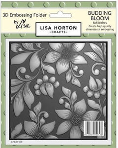 3D Embossing Folder - Budding Bloom