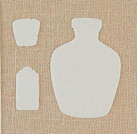 Corked Bottle Stencil and Mask Set