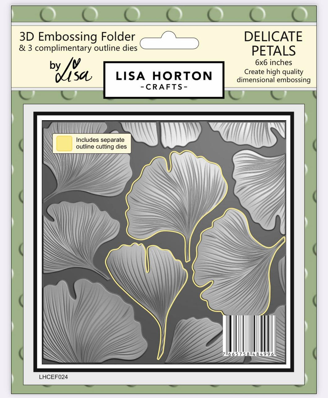 3D Embossing Folder - Delicate Petals (with 3 coordinating outline dies)