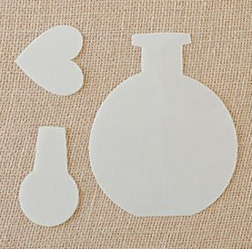Domed Bottle Stencil and Mask set