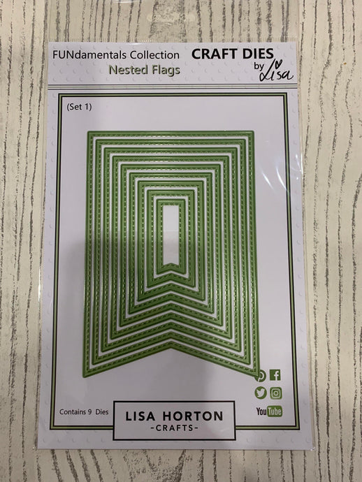 LISA HORTON CRAFTS - NESTED FLAGS DIES