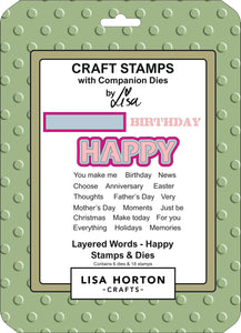 Layered Words - Happy Stamps & Dies Set