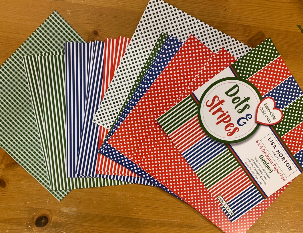 Dots & Stripes Festive 6x6 Paper Pad