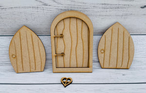 MDF - Toadstools, fairy Doors and Wood Slice Bundle