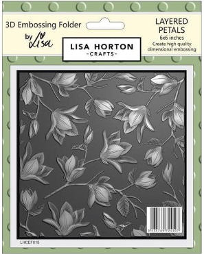 3D Embossing Folder - Layered Petals