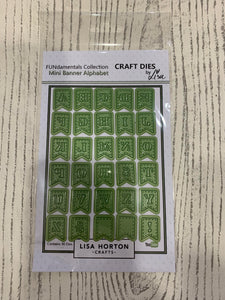 LISA HORTON CRAFTS - MINI BANNER ALPHABET DIES