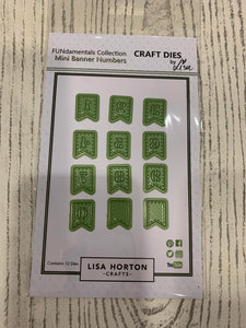 LISA HORTON CRAFTS - MINI BANNER NUMBERS DIES