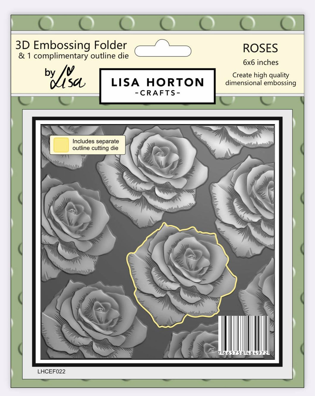 3D Embossing Folder - Roses (with coordinating Die)