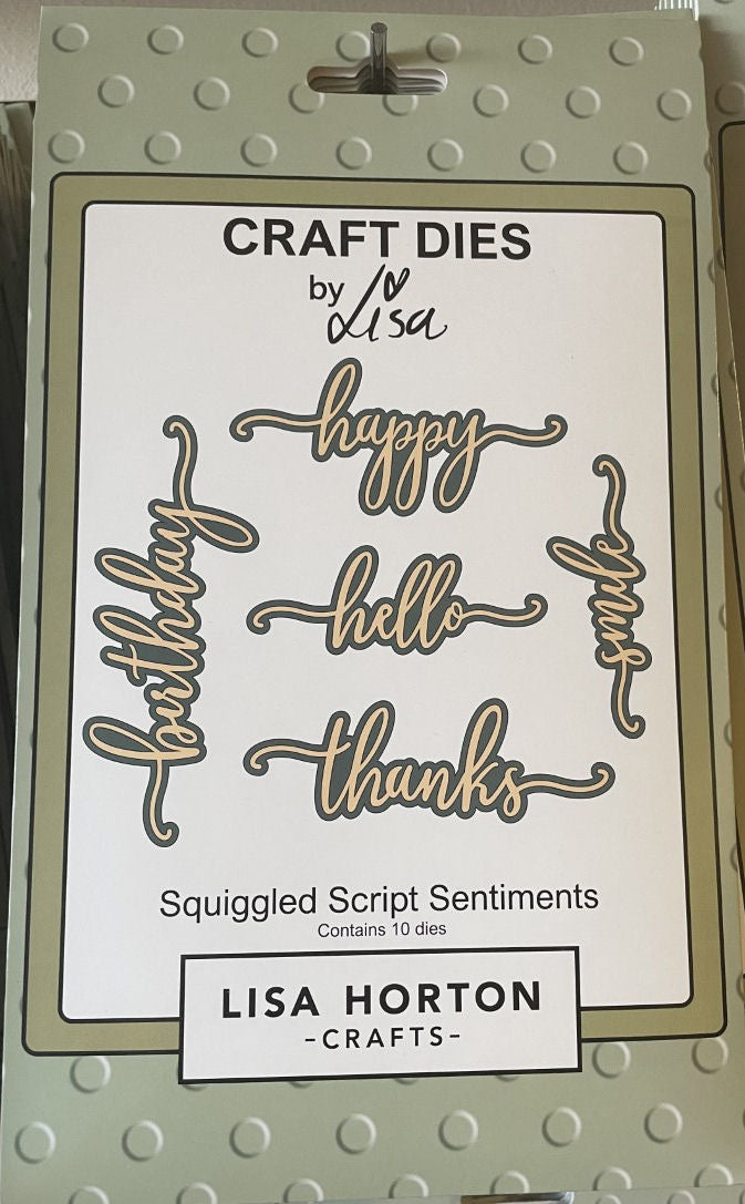 Squiggled Script Sentiments Die Set