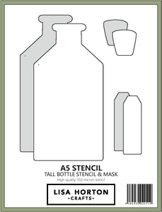 Tall Bottle Stencil and Mask Set