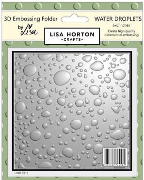 3D Embossing Folder - Water Droplets