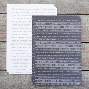 A5 Black & White Wordage Sheets