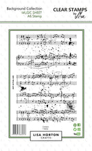 Music Sheet A6 Stamp Set