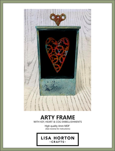 MDF ARTY FRAME WITH HEART EMBELLISHMENT