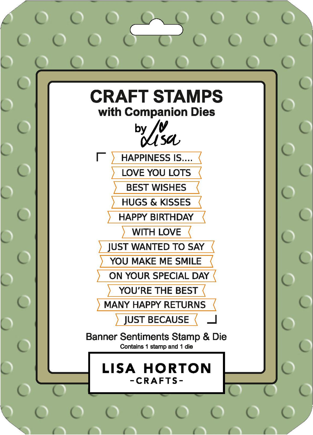 Banner Sentiments Stamp and Die Set