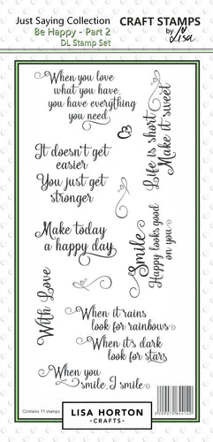 Be Happy DL Stamp Set - Part 2