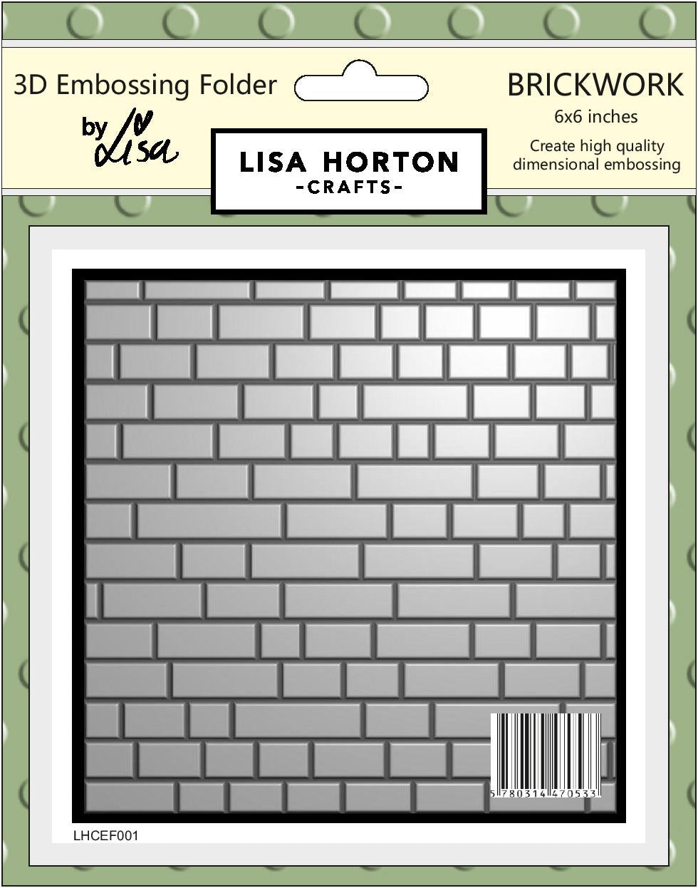 3D Embossing Folder - Brickwork