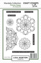 Choose Happy Mandala Stamp Set