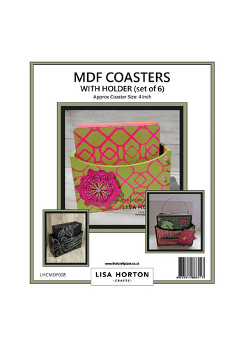 MDF Coasters with Holder