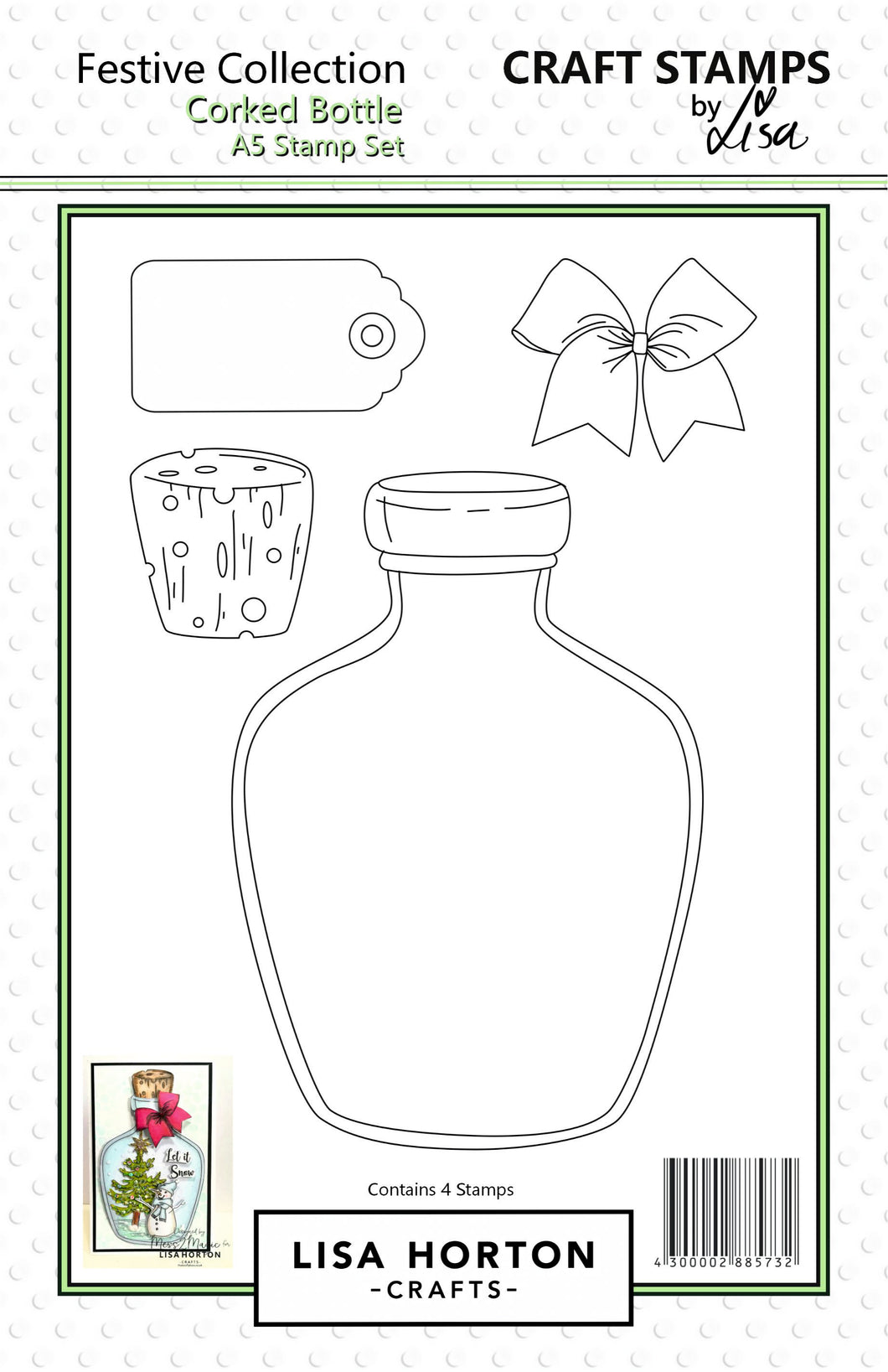 Corked Bottle A5 Stamp Set