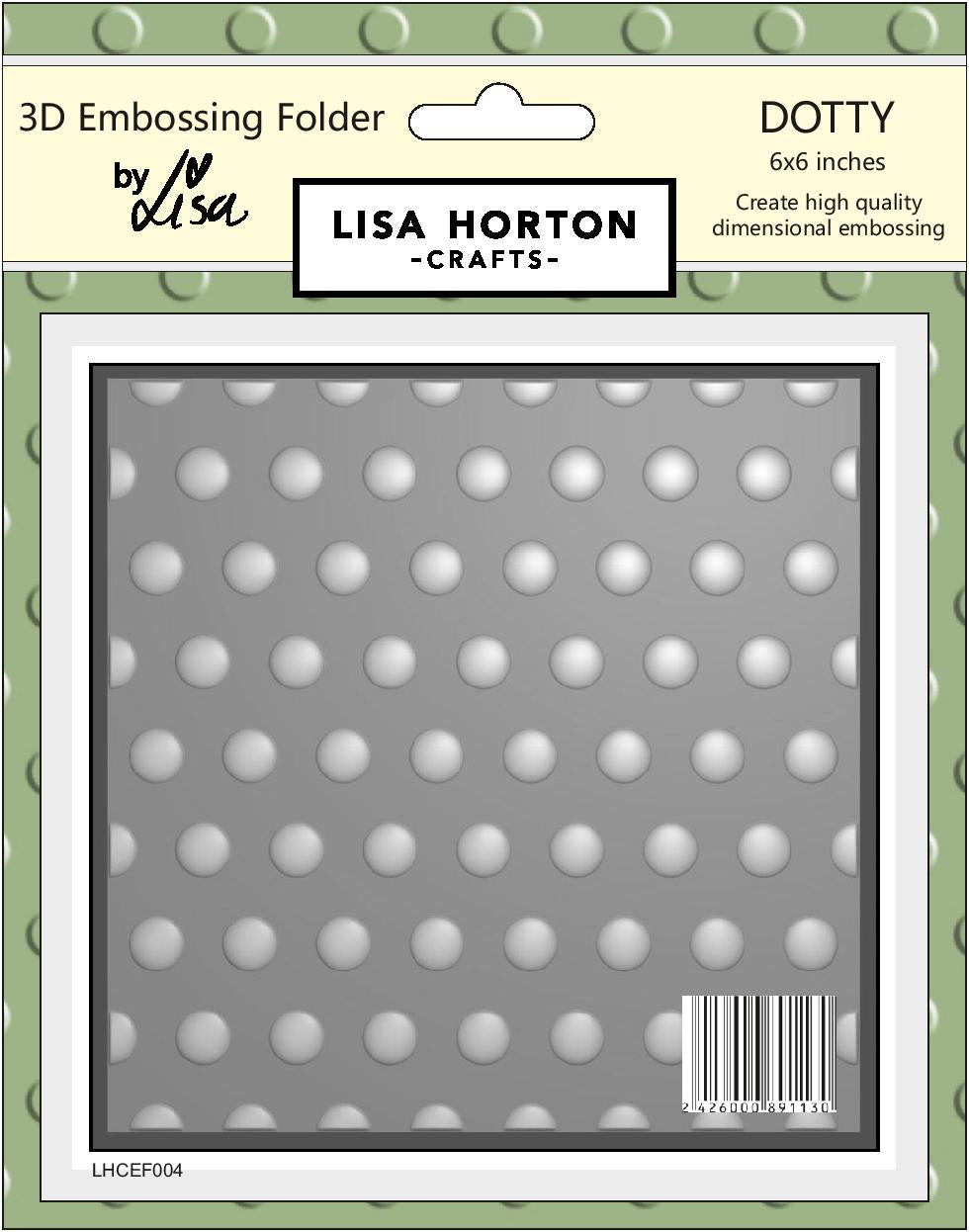3D Embossing Folder - Dotty