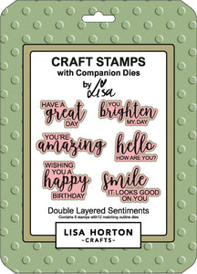 Double Layered Sentiments Stamp and Die Set