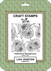 Helianthus Background Stamp