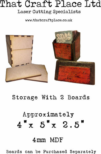 Storage box with 2 boards