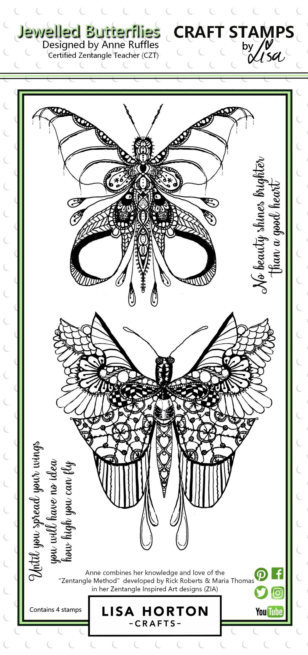 Jewelled Butterflies DL Stamp set