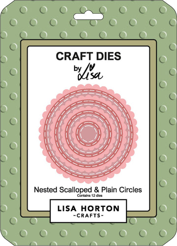 Nested Scalloped and Plain Circles Die Set