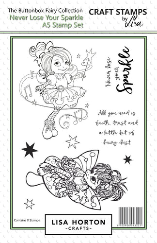 Buttonbox Fairies - Never Lose your Sparkle A5 Stamp Set