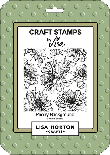 Peony Background Stamp