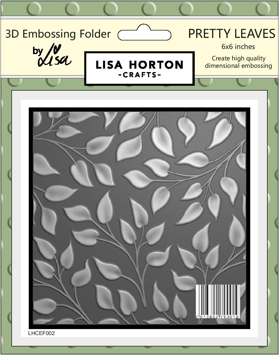 3D Embossing Folder - Pretty Leaves