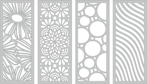 Slimline Stencils - Pack of 4