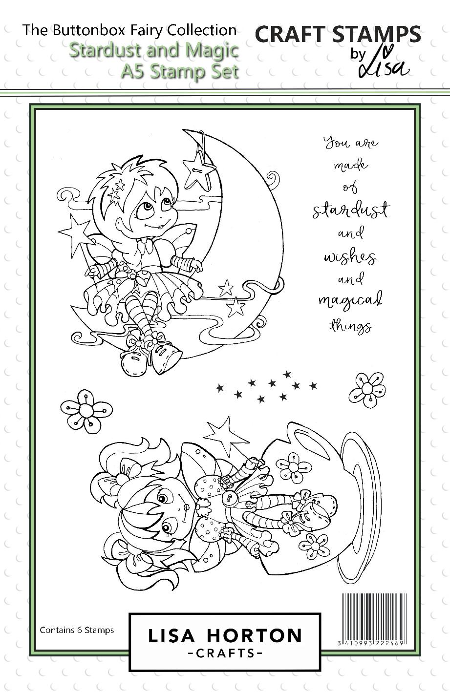 Buttonbox Fairies - Stardust and Magic A5 Stamp Set