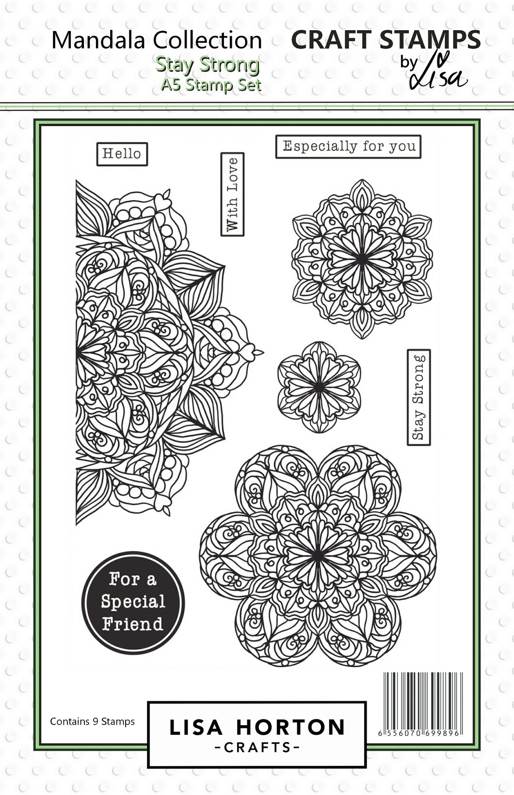 Stay Strong Mandala Stamp Set