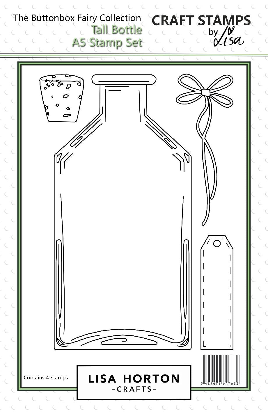 Tall Bottle A5 Stamp Set