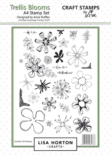 Trellis Blooms A4 Stamp Set