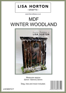 MDF Winter Woodland Scenes x 2