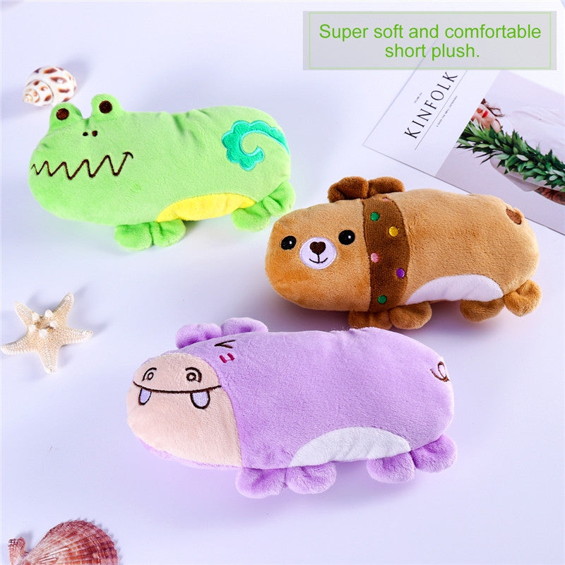 The Squeaky Mr  Hippo, Mr  Bear & Mr  Frog   Dog Toys