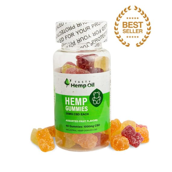 Tasty Hemp Gummies 25mg each