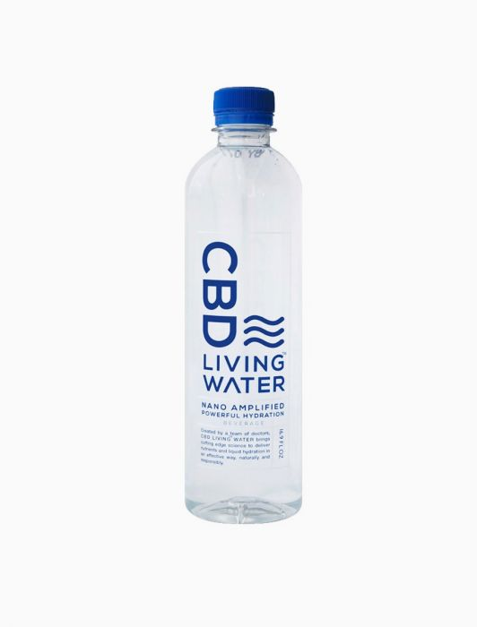 CBD Living Water 100% organic & natural hemp CBD extracts infused, 9+pH water